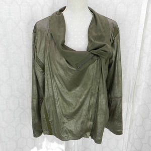 Vigoss Sz 1X Green Faux Suede Moto Jacket